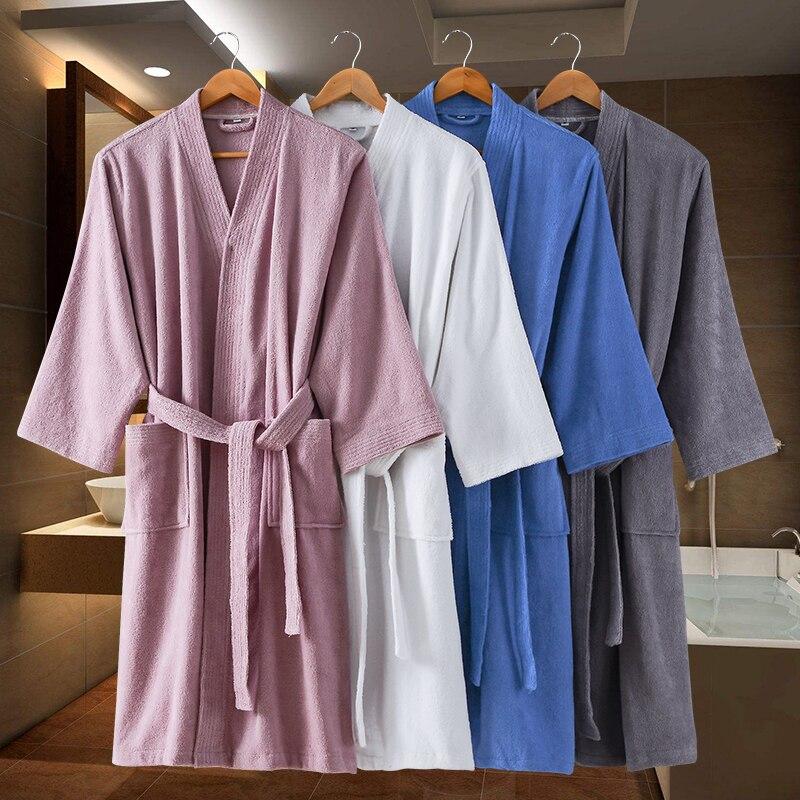 Bath Robe Men Winter Thick Kimono Robes Elegant Bathrobe Male Night Dressing Gown Mens Plus Size  XXL Classic Lounge Sleepwear