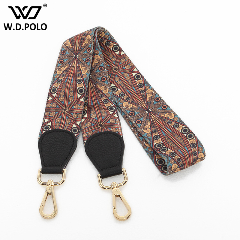 WDPOLO bohemian stylish women bag strap wide design lady shoulder bag belts national wind lady shoulder strap AA098 summer new style korean ulzzang national wind cross shoulder bag straw knitting bohemian wind shoulder bag for young lady