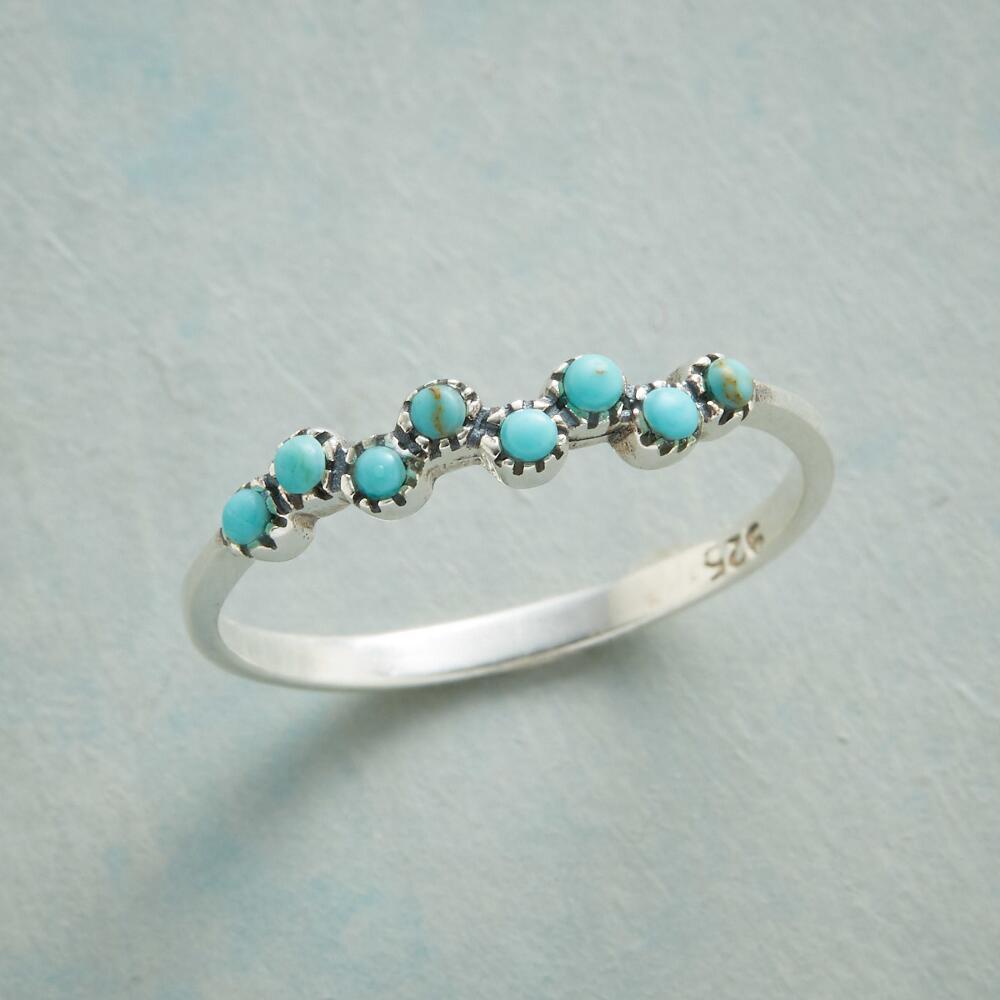 Dainty prata cor minúsculos reconstituído azul pedra bolhas cavort anel para mulheres sereia beijos anéis jóias damas de honra presentes