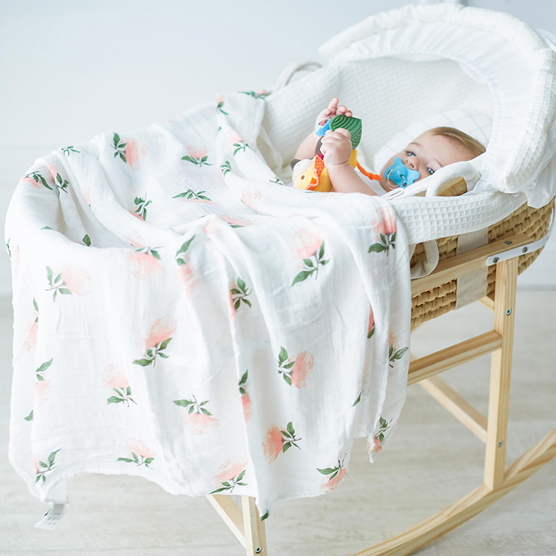 Muslin Diapers For Newborn Baby Swaddle Wrap Soft Blanket For Kids Bamboo Cotton Stroller Bedding Wrap Photography 120x120cm