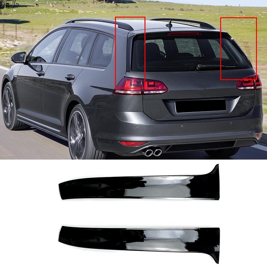 Car Rear Wing Side Spoiler Stickers Trim Cover for Volkswagen VW Golf MK 7 Variant Estate