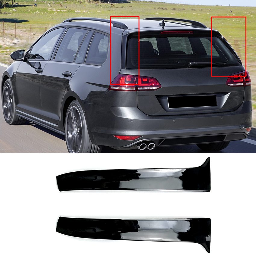 Car Rear Wing Side Spoiler <font><b>Stickers</b></font> Trim Cover for Volkswagen <font><b>VW</b></font> <font><b>Golf</b></font> MK <font><b>7</b></font> Variant Estate Wagon Alltrack Accessories Car Styling image