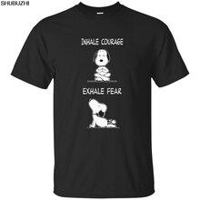 4c177515cf0d33 Nowy orzeszki ziemne pies Charlie brązowy śmieszne joga męska koszulka  Cartoon t shirt mężczyźni Unisex nowa moda tshirt luźny r.