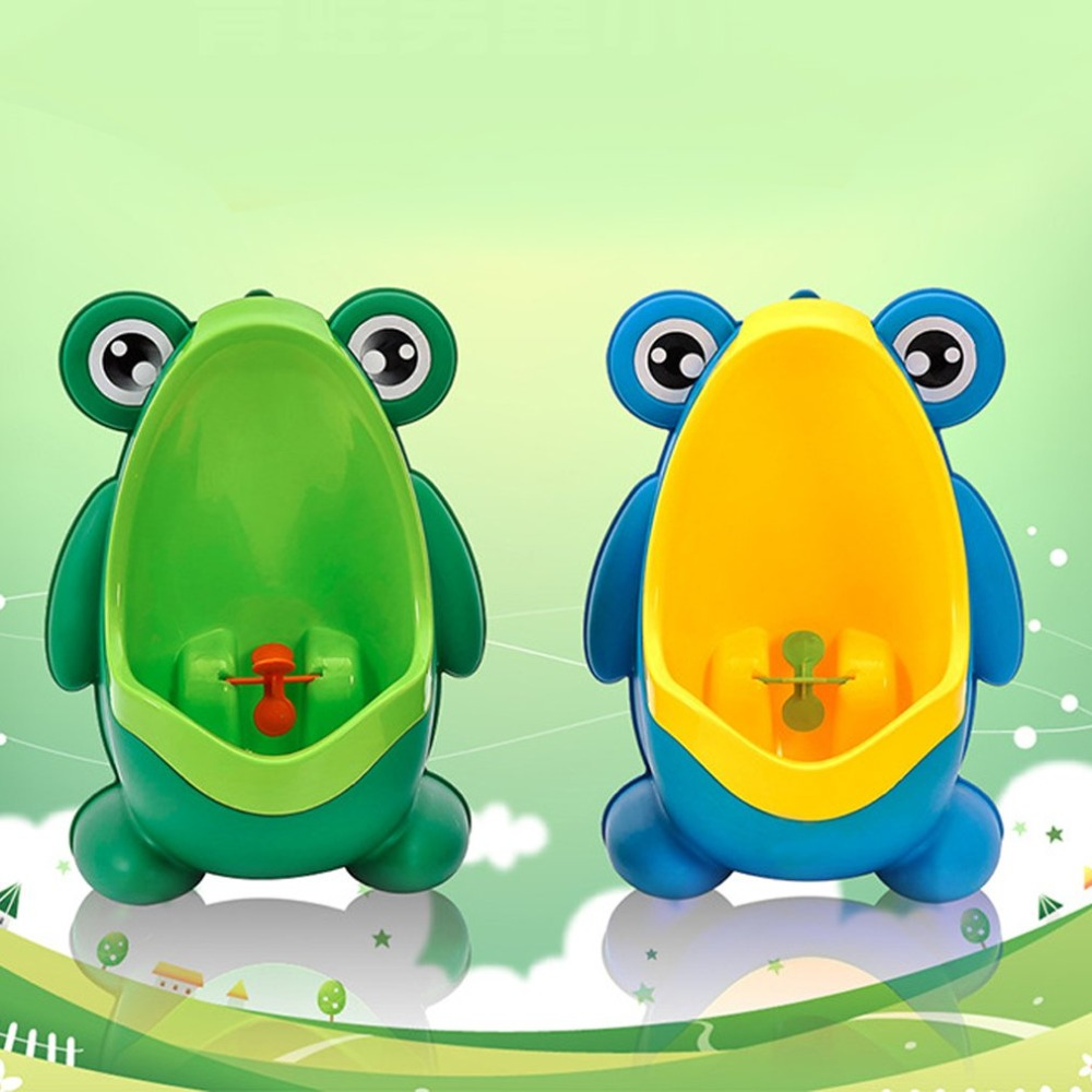 Portable Ergonomic Children Boy Kids Toilet Training Children Potty Pee Urine Home Bathroom Frog Shape Toilet Urinal