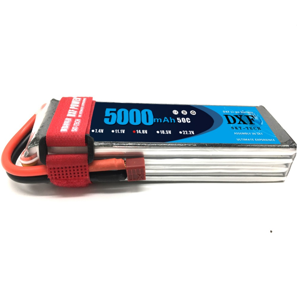 DXF 4S 14.8v 5000mAh 50C Lipo Battery  for RC Airplane, Helicopter, Car/Truck, Boat(150*42*31mm)