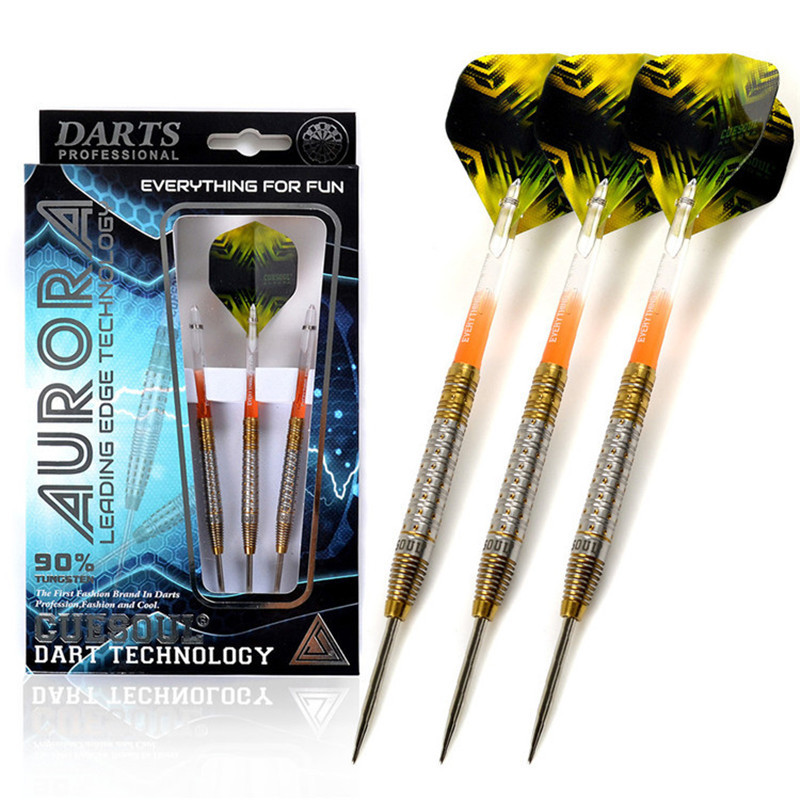 CUESOUL Tungsten Darts Steel Tip Darts With 90%Tungsten Steel Barrel 23g 145mm Electronic Soft Tip Darts cuesoul 24 26 28g professional 85% tungsten steel tip darts 145mm with nylon shafts csgl n2209