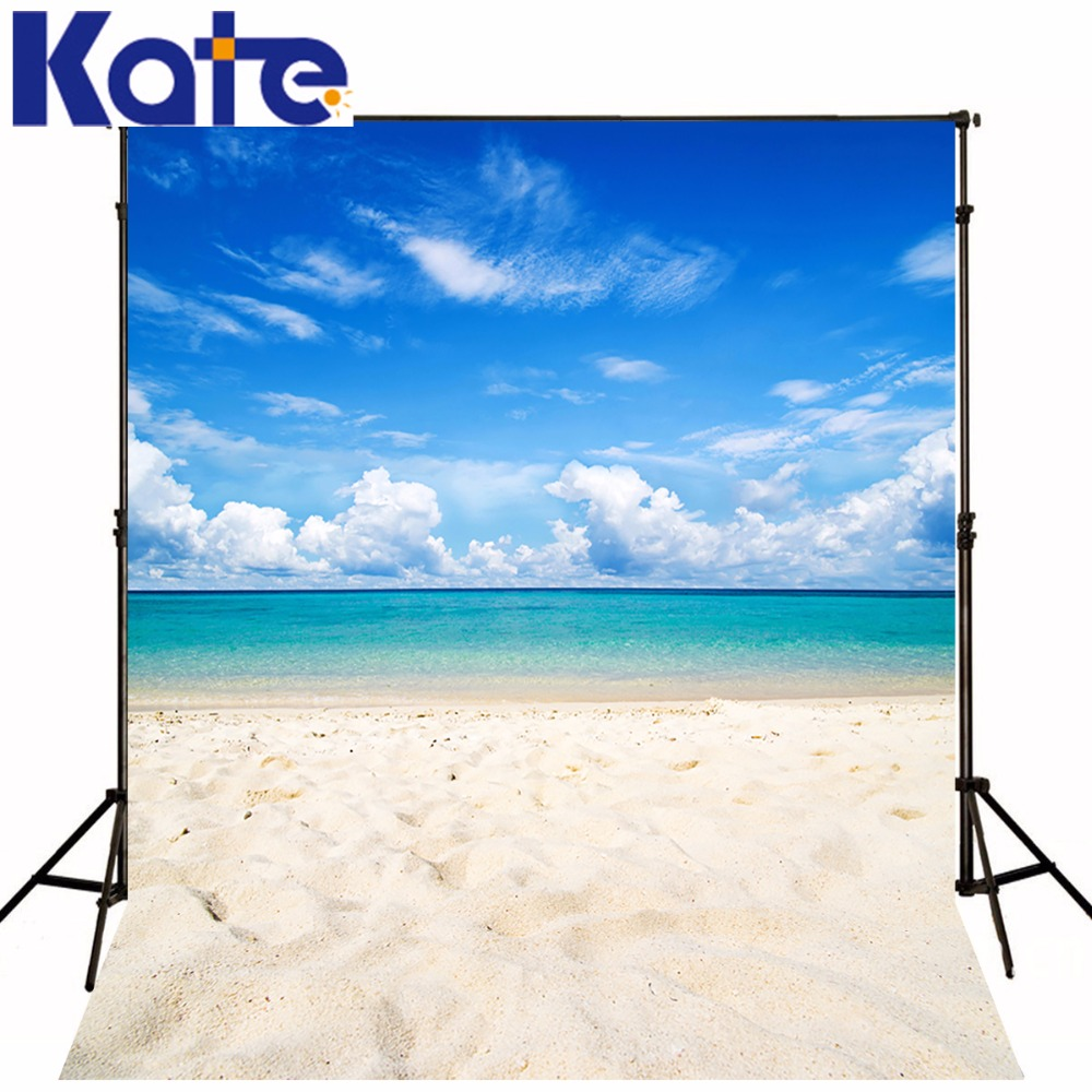 где купить 10x10ft Kate Seaside Wedding Photography Backdrops Beach Backgrounds Photo Studio Blue Sky Photo Background Photography Backdrop по лучшей цене