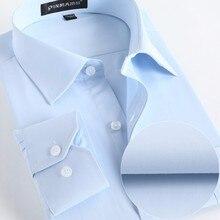 Для мужчин Рубашки для мальчиков социальная 2017 брендовые весенние вечерние Non Iron платье-рубашка с длинными рукавами Бизнес модные Для мужчин S Рубашки для мальчиков с Кнопка X020