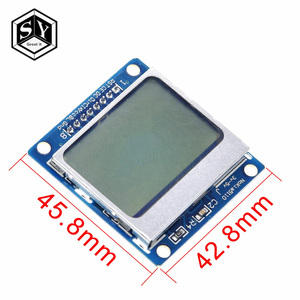 Smart Electronics LCD Module Display Monitor Blue backlight adapter PCB 84*48 84x84 lcd5110 Nokia 5110 Screen for Arduino(China)