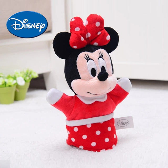c036c222c3d Disney Hand Puppet Finger toys for kids Mickey Mouse Minnie Donald Duck  Daisy soft safe cute