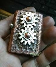 ZPO brand HNQL Handmade steampunk skull  gear can runing welding lighter