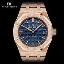 DIDUN Mens Luxury Watches Brand Quartz watches Men Fashion Casual Busines Watch Luminous Full Steel Wristwatches Water resistant