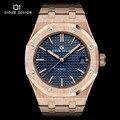 Didun mens relógios de luxo da marca quartz relógios homens moda casual busines assistir luminosa completa aço relógios de pulso resistente à água