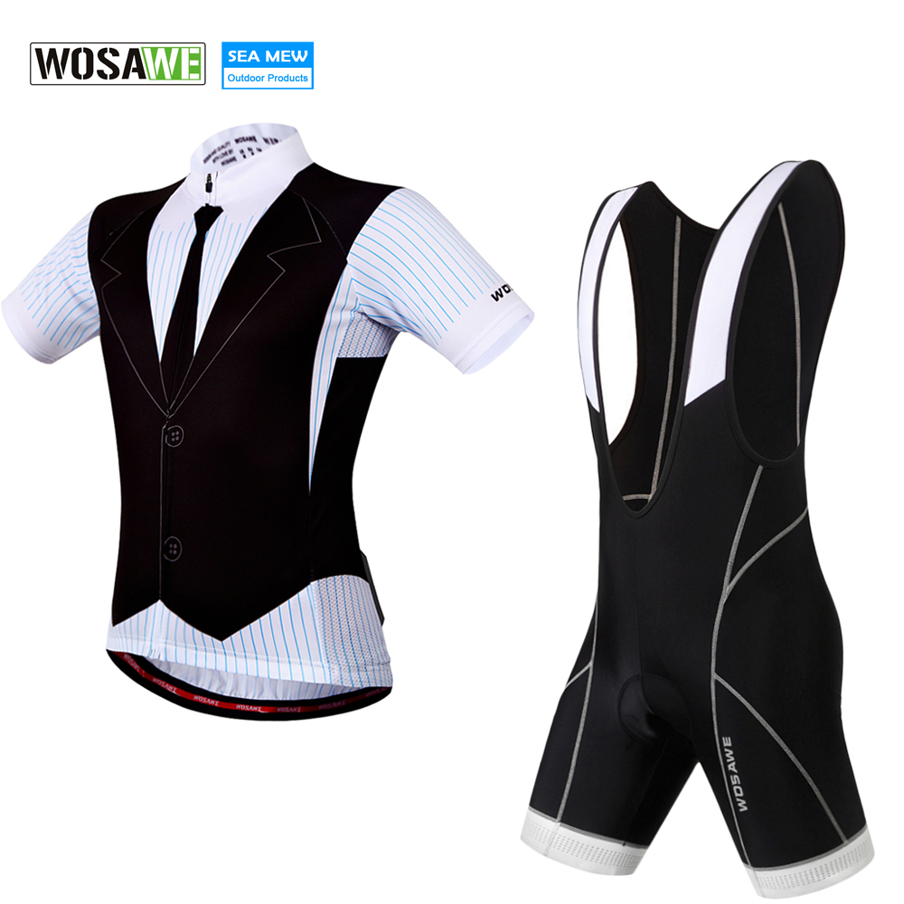 WOSAWE Men Cycling Sets Team Jersey + Bib Shorts Pro Fit Wear Bike jersey ciclismo cycling jersey 2017 roupa bike Sets xintown men s outdoor cycling jersey sets bib shorts sport short sleeve cycling jersey mountain bike clothing wear suit