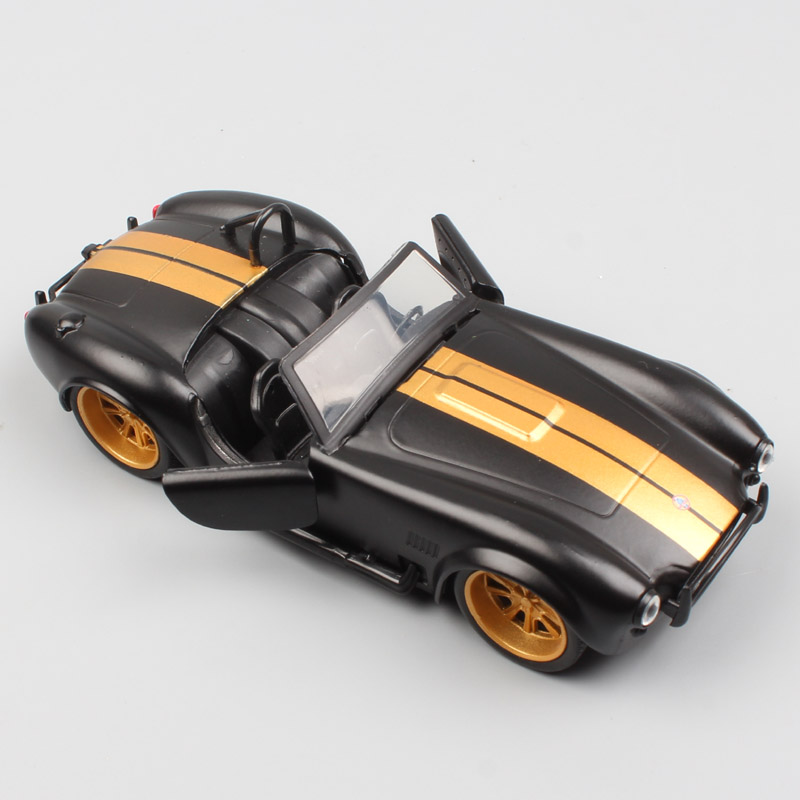 Kid's 1:32 Scale Mini Jada Bigtime Vintage 1965 Shelby Cobra Metal Diecast Modeling Muscle Car Vehicles Toy Gold For Collection