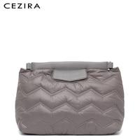 CEZIRA Small Fashion Lades Clutch Purse Messenger Bag Buckle Belt Shoulder Bags for Women Nylon Fabric Frame Embroidery Handbag