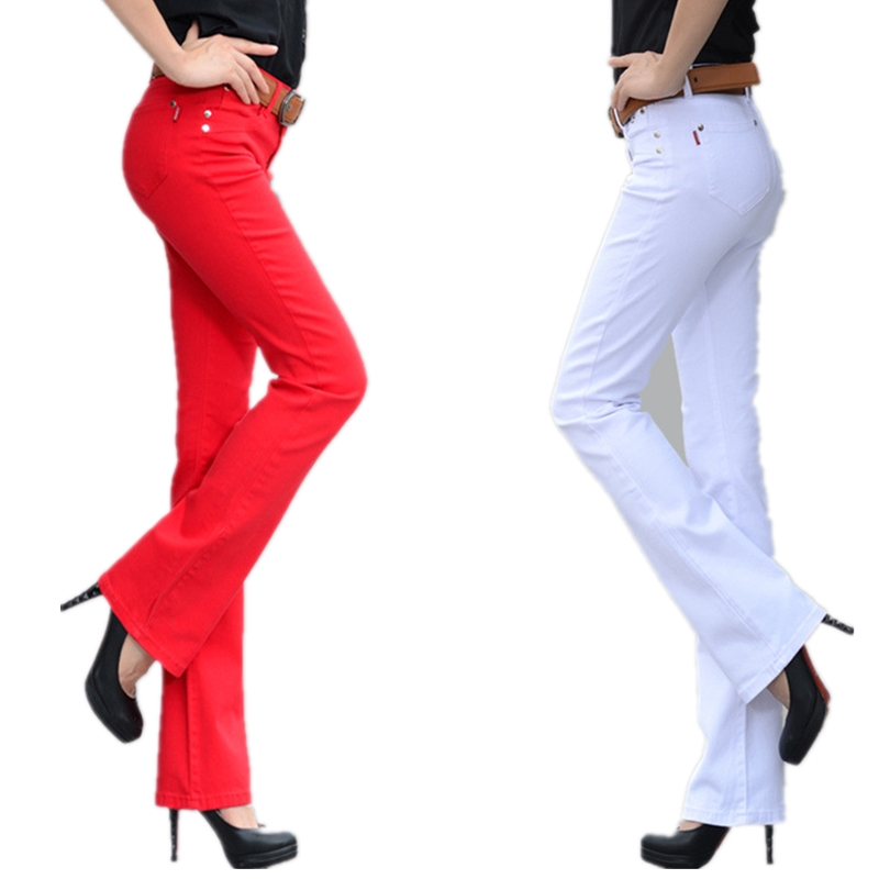 2019 Autumn New Candy Color Women Jeans Long Stretch Slim Fit Jeans Straight Lager Size Sexy Fashion Casual Lady Trousers Z2401