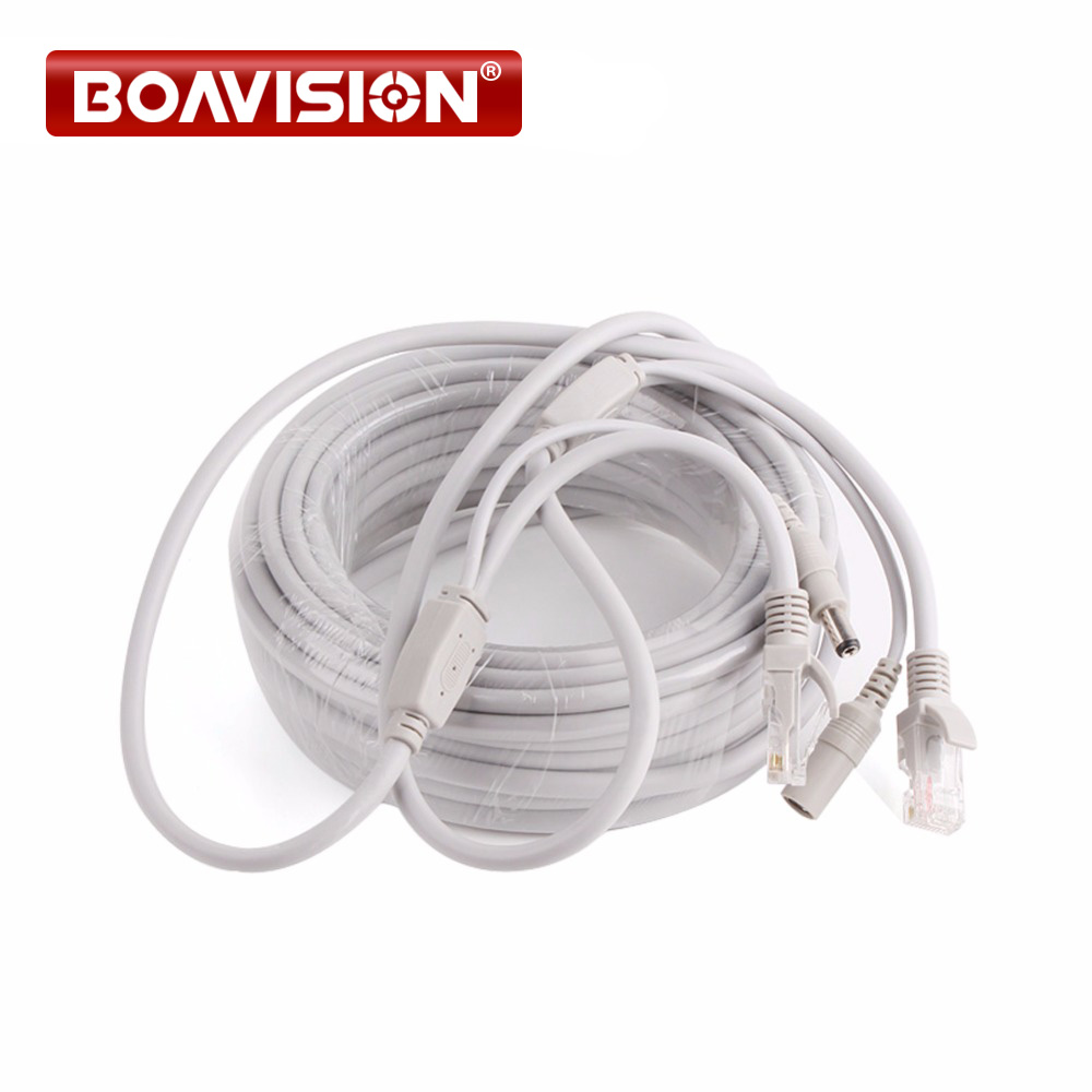 10m 20m 30m 40m Ethernet Cable Rj45 Dc Power Cat5 Cat 5e Wiring Cctv Network Lan For Ip Camera Nvr System