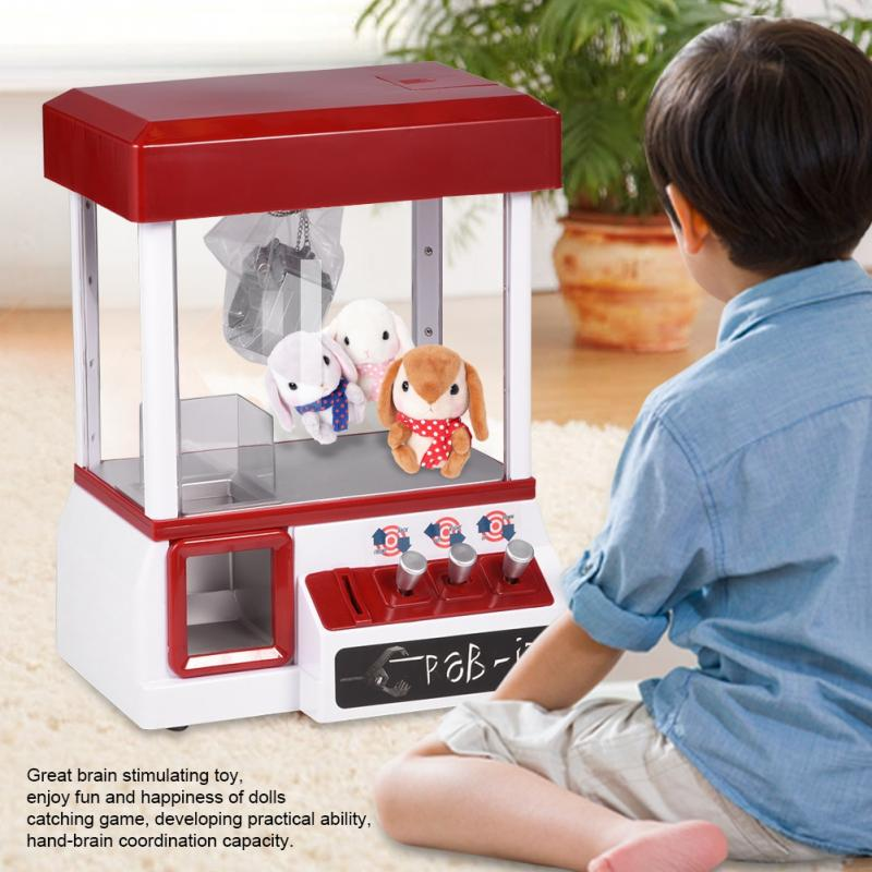 Dolls Machine Electronic Musical Plush Toys 2018 Candy Catcher Game Hot Sale Fun Toy Without Dolls Toys Gifts For Children Kids