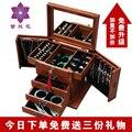 Коробка ювелирных изделий с замком массивная деревянная шкатулка Принцесса большой емкости Европейский стиль Корейский свадебный подарок