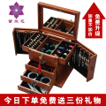Jewelry box with lock solid wooden jewelry box Princess large capacity European style Korean wedding gift