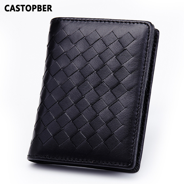 Handmade Bags Weave Women Leather Genuine Leather Sheepskin Business Card Holders Credit ID Holder Mens Case High Quality Brand