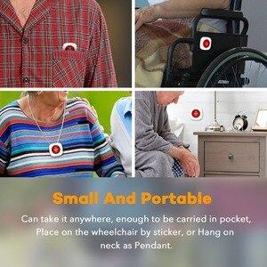 """Image 5 - Bezprzewodowy alarm napadowy, proszę kliknąć na przycisk """" dla osób w podeszłym wieku w domu GSM system alarmowy z SMS i powiadomienie o połączeniu bezpieczeństwo w domu"""