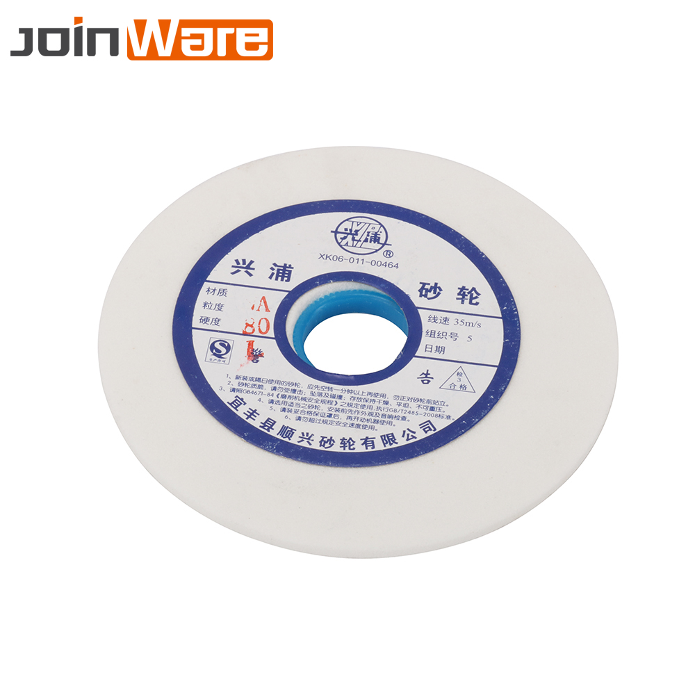 цена на 150mm White Corundum Ceramics Grinding Wheel 46 60 80# For Metalworking HSS High Carbon Steel 32mm Aperture 10mm Thickness