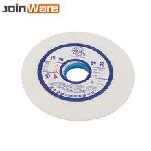 150mm branco corindo cerâmica rebolo 46 60 80 # para metalurgia hss alta aço carbono 32mm abertura 10mm espessura