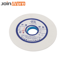 Rueda de molienda de cerámicas de corindón blanco, 150mm, 46 60 80 #, para Metalúrgica, acero de alto carbono HSS, apertura de 32mm, 10mm de grosor