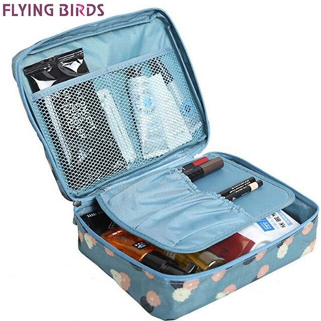 Flying birds! Sacos cosméticos Multifuncionais saco de lavagem Mulheres Maquiagem portátil Saco de Armazenamento De higiene pessoal Sacos de Viagem à prova d' água LM4092fb