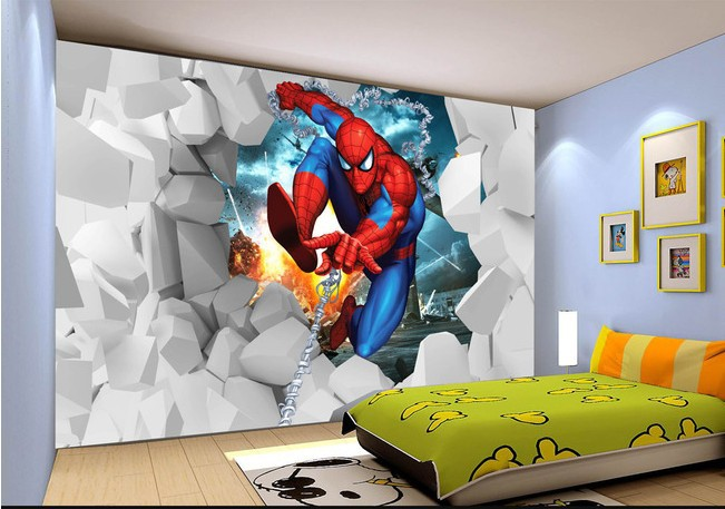 Us 3099 3d Cartoon Childrens Room Bedroom Wallpaper Murals Modern Living Room Tv Background Wall Paper Spiderman Wall Covering In Wallpapers From