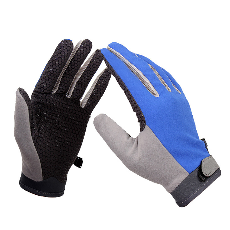Anti Slip Full Finger Bicycle font b Gloves b font Durable Breathable Mountain Road Cycling font