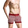 2PCS/LOT Pull In Underwear Men's beach Trunks Man Beach Men Short Swimwear Swimsuit beach Shorts Bathing Striped 1620503-2