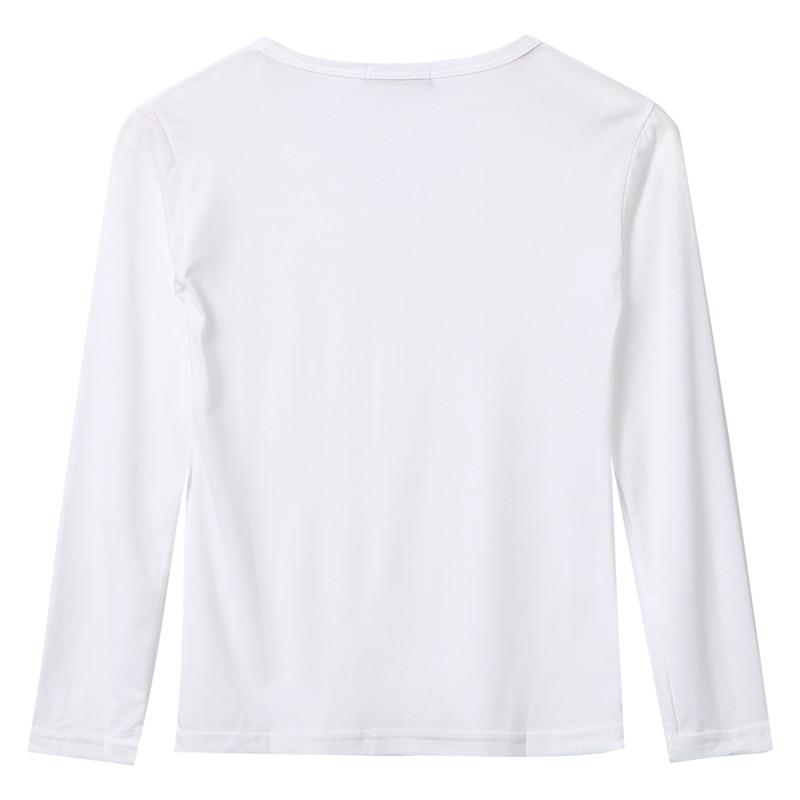Women Basic Long Sleeve Plain Round Neck Ladies Stretch  Top T Shirt