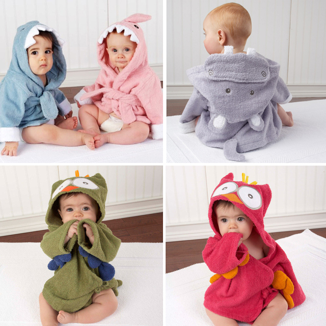 Venda quente! bebê recém-nascido Da Menina do Menino Com Capuz Animais Modelagem Roupão/Crianças Dos Desenhos Animados Toalha de Banho/Personagem Roupão De Banho Crianças/Bebê Cobertor