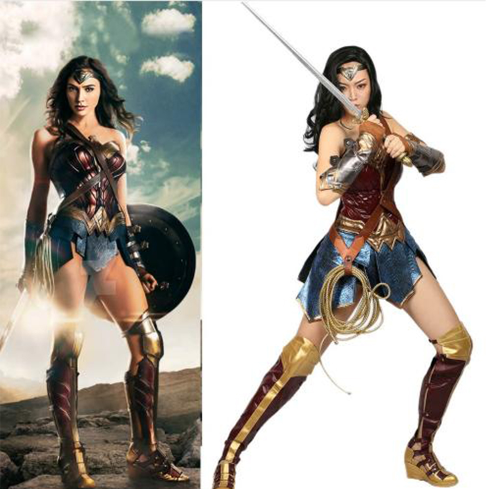 2018 Hot Sale Wonder Woman Cosplay Costume Superhero Women -3029