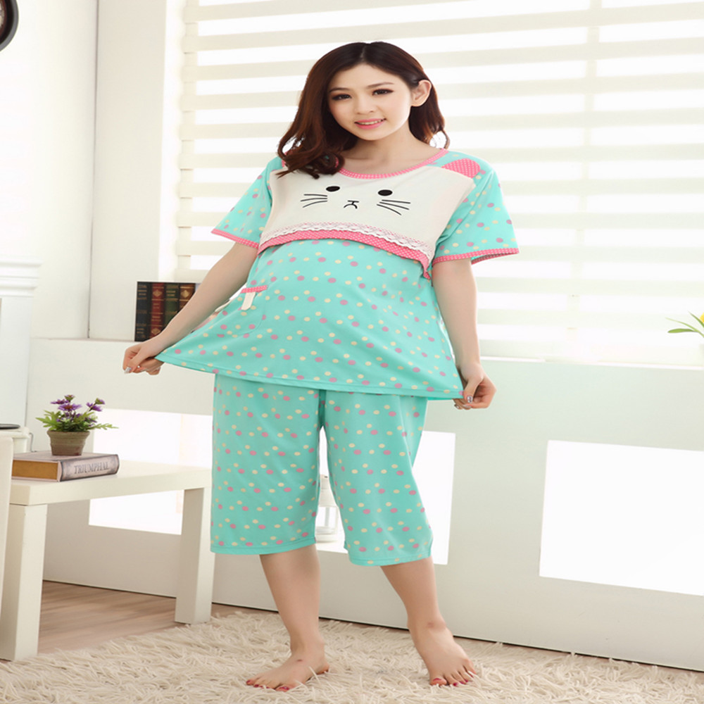 Online get cheap chic maternity clothing aliexpress alibaba 2016 summer blue polka dot dresses for pregnant chic maternity wear lactation clothing for feeding pajamas nursing clothes ombrellifo Image collections
