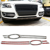 Car styling ABS CHROME front rear fog lamps COVER TRIM For Audi Q5 2009 2010 2011 2012 car styling