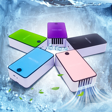 Handheld Mini Air Conditioner USB Fan Rechargeable Leafless Cooler Fans Silent Desktop Desk Personal Cooling