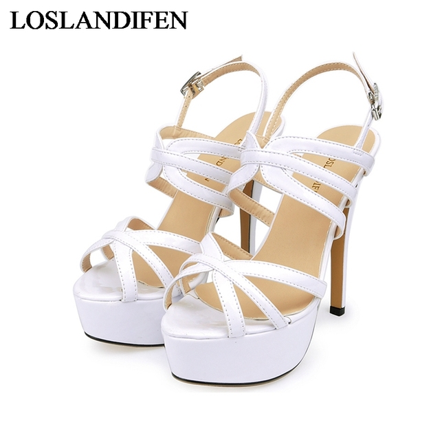 Fashion Platform Sandals 2018 New Designer Women Shoes Thin High Heels Sandal Wedding Party Dress Las