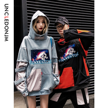 UNCLEDONJM Pullover Hoodies Men/Women Casual Hooded Streetwear Sweatshirts Hip Hop Harajuku Male Tops Colour Block 539W