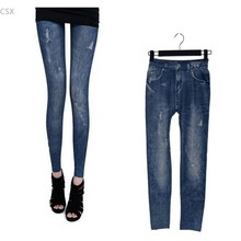 Fashion Women's Lady Leggings Stretch Skinny Leggings Pencil Pants Jeans free shipping