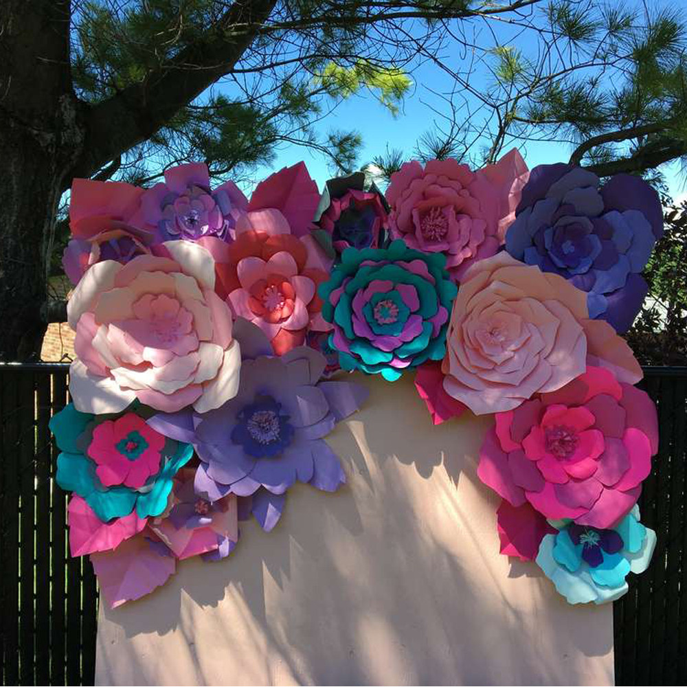 Online Shop Large Paper Flowers Backdrop Giant Paper Flowers
