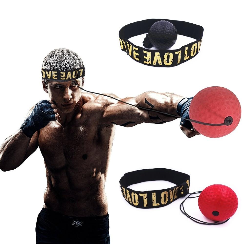 Head-mounted Boxing Reflex Ball MMA Sanda Boxer Raising Reaction Force Hand Eye Training Set Stress Boxing Training Ball Boxeo