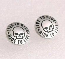 Free Shipping! Live To Ride Skull Rhinestone Biker Earring Studs Stainless Steel Jewelry Wings Motor Biker Women Earring SJE0030