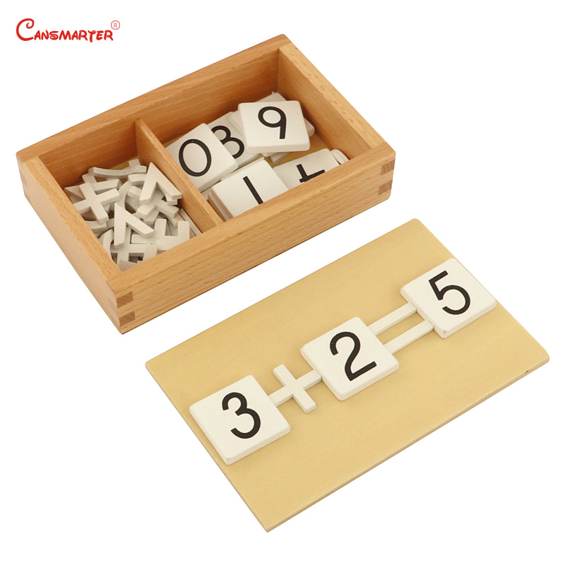 Educational Toys for 5 Year Old Toddlers and Preschoolers Arithmetic Signs Box Wood Beech Math Toys Montessori Materials MA011 3