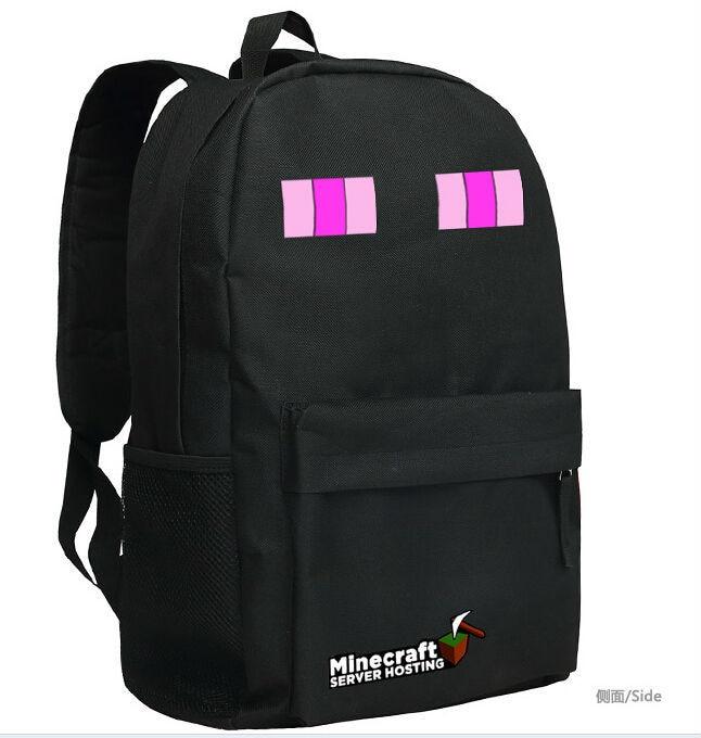 Minecraft Backpacks School Bags Minecraft Enderman Backpack For Unisex  Limit Bolsas Game Birthday Gift b66fae5029a61