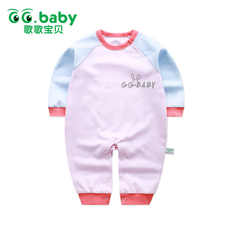 New Newborn Rabbit Baby Girl Rompers Cotton Clothes Long Sleeve Jumpsuit Romper Infant Unisex Boy Body Pajamas Overalls Clothing baby overalls long sleeve rompers clothing cotton dog anima 2017 new autumn winter newborn girl boy jumpsuit hat indoor clothes