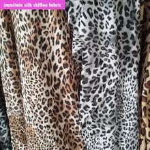 Fashion Chiffon Fabric Sexy Leopard print Immitate Silk Scarf Sewing Material DIY Dress Wide 145cm